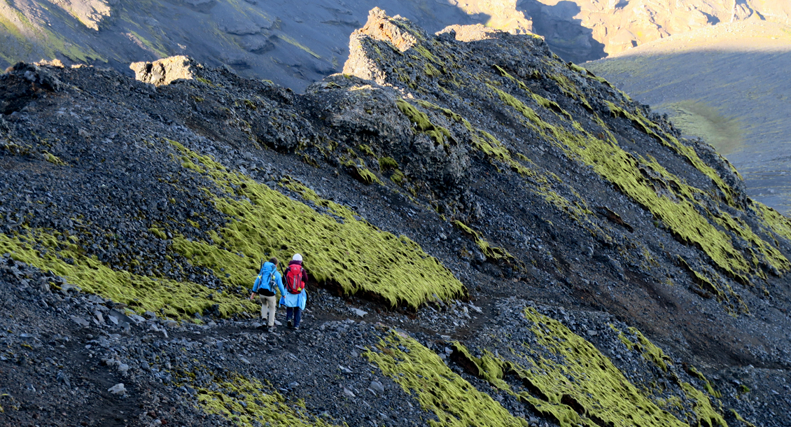 Bergsteigen in Island