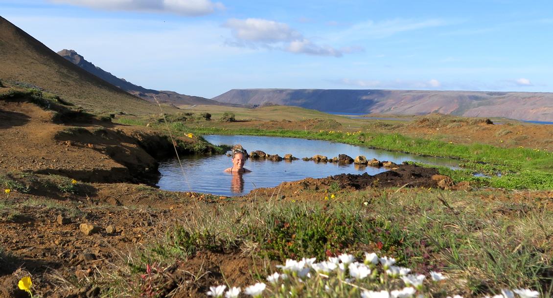Heiße Quelle Island