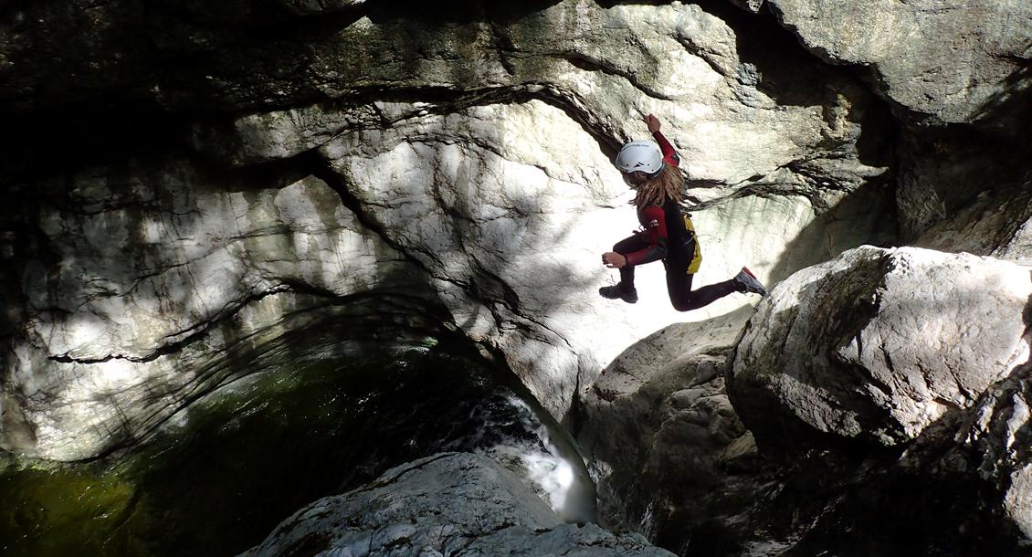 Sprung in den Canyon