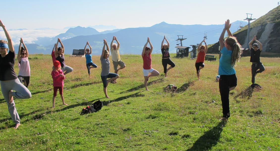 Yoga on the peaks